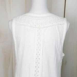 Anthropologie Tops - Meadow Rue White Lacey Tank Top